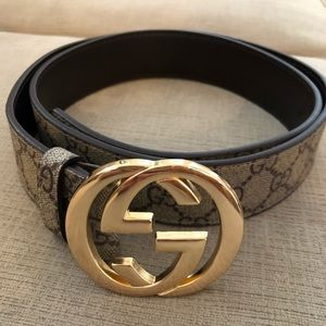 Gucci GG Logo Supreme Belt